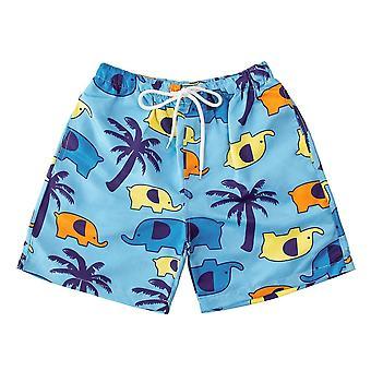 Fish Print Trunks Swimsuit For Toddler