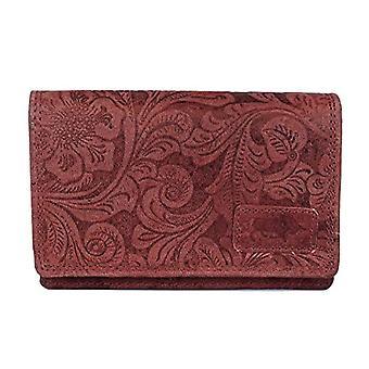Arrigo 02C-337BP-Rd, Leather Wallet. Woman, Red, Medium