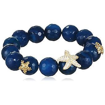 MISIS Woman-Bracelet Angel Silver 925 Blue Agate White Zircons 20 cm - BR07779