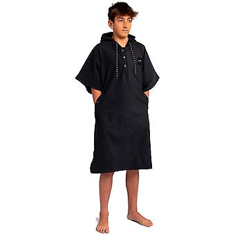 Slowtide Hela dagen Mikrofiber Poncho S / M Hooded Handduk i svart