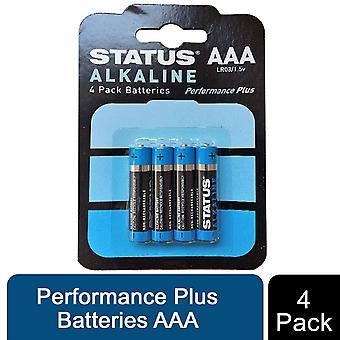 Status Alkaline Performance Plus Batteries AAA