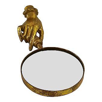 Złote metalowe szkło powiększające, styl Boho