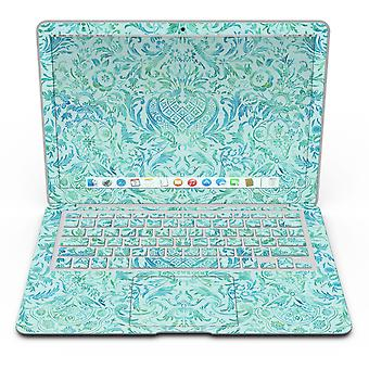 Aqua Damast V2 Aquarell Muster - Macbook Air Skin Kit