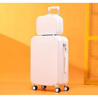 Abs Spinner Trolley Luggage Set Pc Lightweight Rolling Wheeled Bag