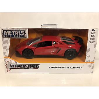 Lamborghini Aventador SV Rouge brillant Jada 30109 Échelle 1:32