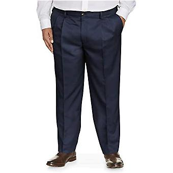 Essentials Men's Big and Tall Classic-fit Wrinkle-Resistant Pleated Chino Pant