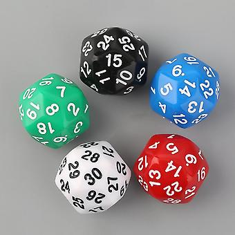 5pcs/set Thirty-sided D30 25mm Gaming Playing Games Dices Solid-color
