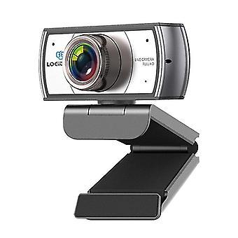 Webcam met statief, 120 graden groothoekwebcamera, live streaming Full HD 1080P-camera voor OBS