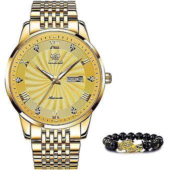 Top Brand Luxury Automatic Watch Sport Stainless Steel Waterproof Watch(Gold)