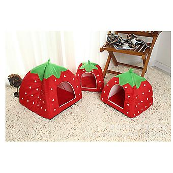Animalerie en forme de fraise