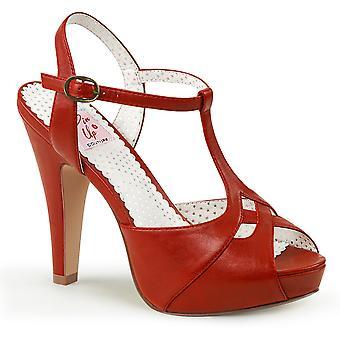 Pin Mujeres's Zapatos Arriba Piel sintética Roja