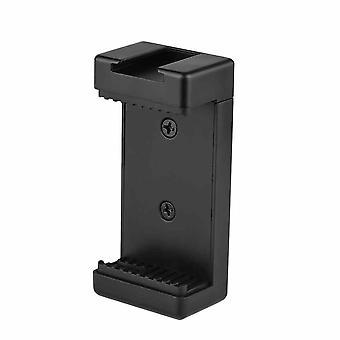 2 PCs teléfono trípode adaptador de teléfono clip de soporte de teléfono con doble 1/4 hilos zapato frío para trípode selfie stick