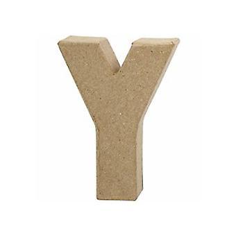 VIIMEISET MUUTAMAT - Pieni 100mm paperi mache kirje Y | Papier Mache -muodot
