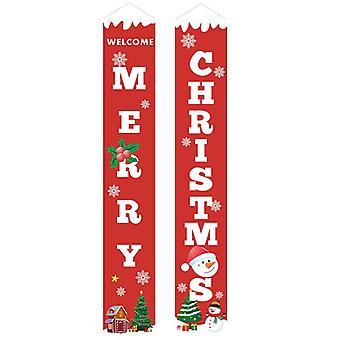 (19) Feliz Natal Festa santa pendurado Banner Garden Banners Decoração porta
