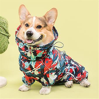 Hond Regenjas Jumpsuit Huisdier Kleding Waterdichte Hondenkleding Maat L