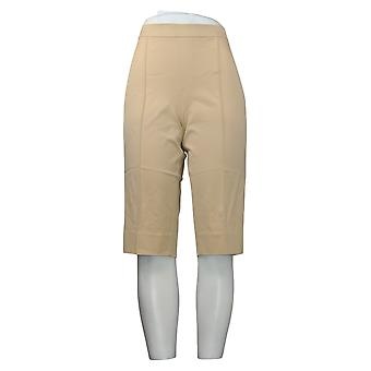 Isaac Mizrahi En direct! Petite Leggings 24/7 Stretch Pedal Pushers Brown A377473