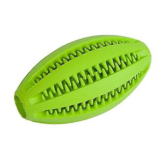 1 X Dog Rubber Ball Chew Toy Rugby Pet Toy Teeth Cleaning Random Color