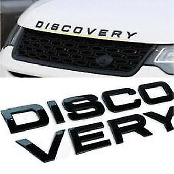 Gloss Black DISCOVERY Land Rover Letters Sticker Stick On Emblem Badge For Front Grill Bonnet Badge Emblem Or Rear