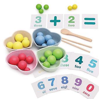 Lasten lelut montessori puu lelut käsi aivoharjoittelu väri pariliitos leikeitä matematiikka peli vauva varhaiskoulutus lelut lapsille