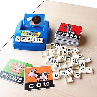 Englische Rechtschreibung Alphabet Brief Spiel Karten Englisch Wort Puzzle Spaß früh