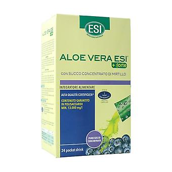 Aloe vera juice + forte mirtilo ficka dricka 24 paket