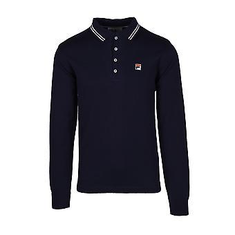 Fila Vintage Fila Sayer Long Sleeved Knitted Polo Shirt
