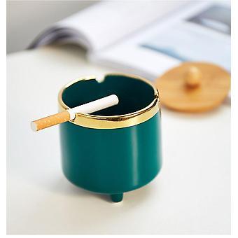 1PC Cenicero de cigarros de cerámica con tapa Escritorio Accesorios para malezas Accesorios para fumar