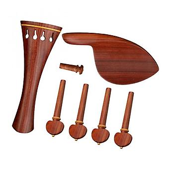 Koolyou Violin End Shaft Wood 4/4 Violin Parts, Used For Violin Tail Pipe Fittings, A Full Set Of Durable Luthier Parts