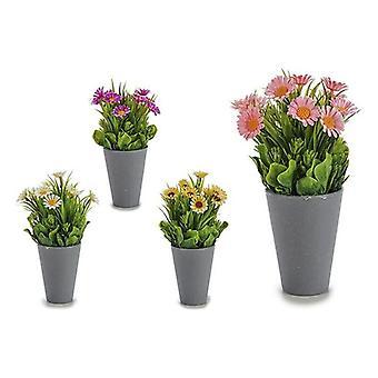 Decorative Plant Marguerite Grey Plastic Cement (10 x 22 x 10 cm)