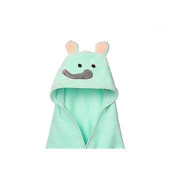 Bath towels washcloths homemiyn children's cartoon pattern bath towel soft  comfortable and skin-friendly 90x90cm cyan