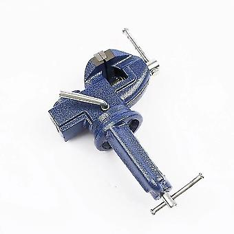 Lifting hooks  clamps shackles 360 degree totatable small swivel base clamp-on bench vise length max : 64mm; Base clamping