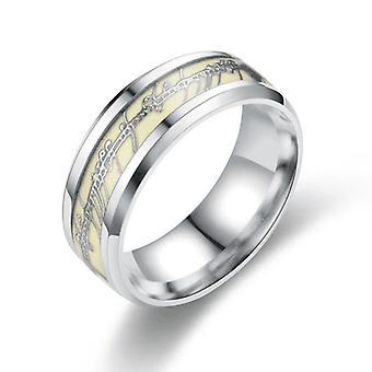 Lichtgevende ringen brief titanium staal paar ring sieraden