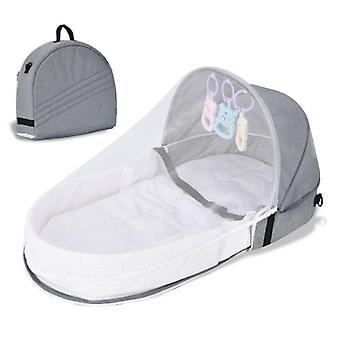 Lasten vauvansänky vastasyntyneen suojelulle Hyttysverkko kannettavalla lastenkorilla Vauvan taitettava hengittävä vauvan makuukori