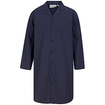 Slenderella Walker Reid WR88840 Men's Navy Cotton Nightshirt