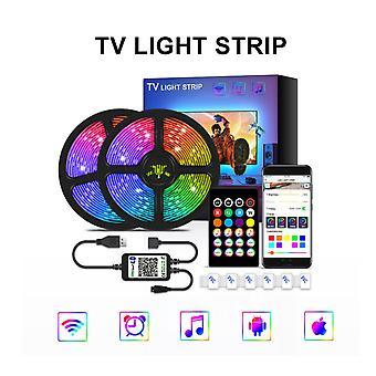 Led-nauhavalo Bluetooth-valolla 5v TV -taustavalaistuksella Usb-sovelluksen valopalkilla