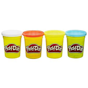 Play-Doh Sortment Color Classic Tubs Pack de 4 112G - Selecionadoaleatoriamente
