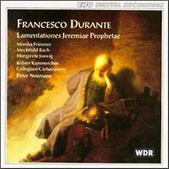 F. Durante - Francesco Durante:Lamentationes Jeremiae Prophetae [CD] USA import