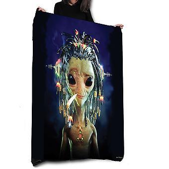 Wild star hearts -alien dredds - fleece / throw / tapestry