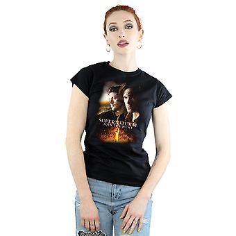 Nadprzyrodzone płonące plakat Podkoszulki na ramiączkach damskie