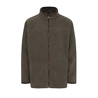 Champion Mens Berwick Fleece Jacket With Faux Suede Trim 3XL Olive