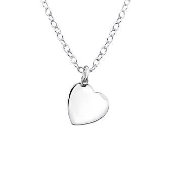 Heart - 925 Sterling Silver Plain Necklaces - W20505X