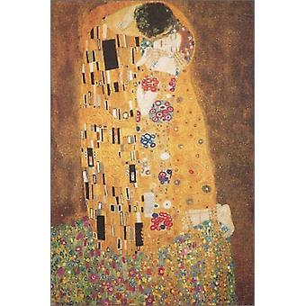 Plakat-Druck der Kuss von Gustav Klimt (24 x 36)