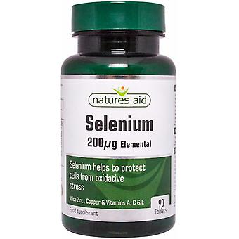 Natures Aid Selenium 200ug with Zinc and vitamins A C & E, 90 Tablets