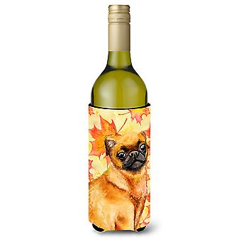 Small Brabant Griffon Fall Wine Bottle Beverge Insulator Hugger