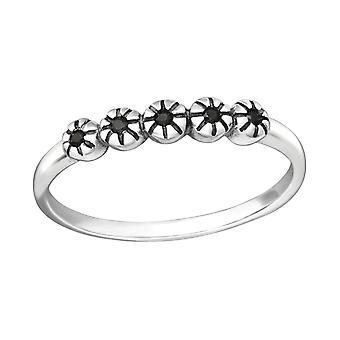 Blume - jeweled 925 Sterling Silber Ringe - W35455X
