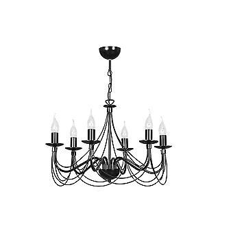 Emibig 照明ソネット 6 黒い天井のシャンデリア照明器具