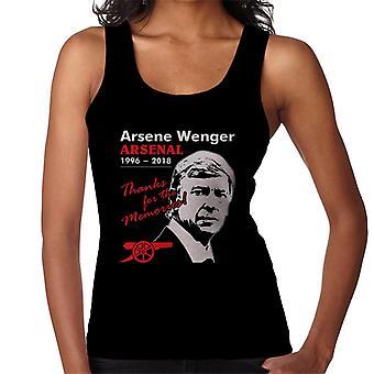 Arsene Wenger Arsenal Thanks For The Memories Women's Vest