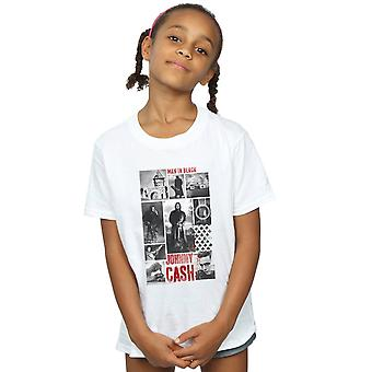 Johnny Cash Girls Photograph Collage T-Shirt