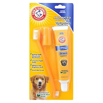 Arm & Hammer Toothpaste and Brush Set for Dogs & Cats Advanced Dental Pet Care