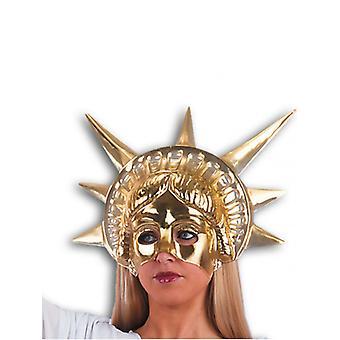 Freiheitsstatue Liberty Gold Face Maske